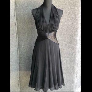 Tadashi Silk Halter Cocktail Dress